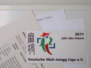 Folienmagnet mit DMJL-Logo zum Jahr des Hasen
